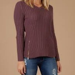 SALE!! Altar'd State ribbed zip front sweater